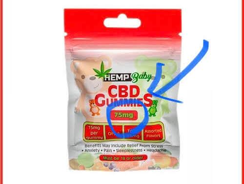 CBDグミのCBD含有量を確認しましょう