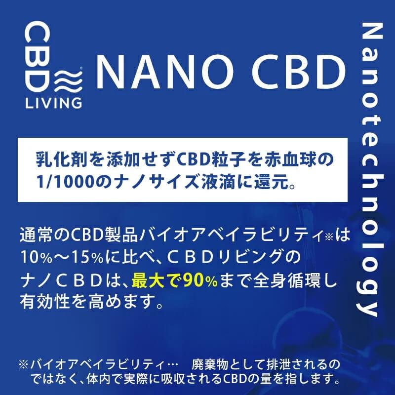 吸収率が高いナノCBDを使用!